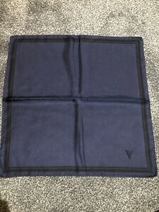Versace Navy Silk Pocket Square