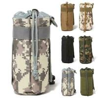 Outdoor Tactical Molle Water Bottle Bag Hiking Belt Top Pouch Holder Kettle H0N0