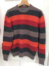 McNEAL Alpine Road Style Men's Pure Lambswool Stripe Jumper Pullover Sweater L