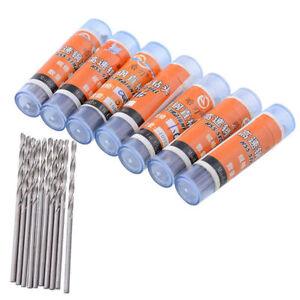 10x Mini HSS Drill Bit Set Twist Drill Bits For Steel Plastic Wood Drilling New