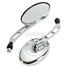 10mm Chrome Oval Motorcycle Rearview Mirrors For Vespa ET2 ET4 Limited Universal
