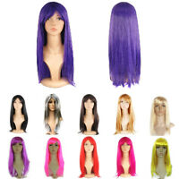 Womens Full Long Fancy Dress Wigs Straight Cosplay Costume Ladies Wig Party Pop