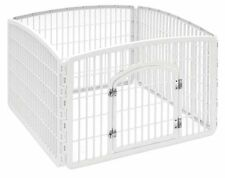 Pet Playpen with Door Cage Dogs Crate gate Fence folding IRIS 24'' FREE SHIPPING