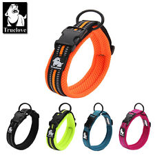 Padded Soft Strong High Vis Reflective Dog Collar In xxs to xxxl 5 colours