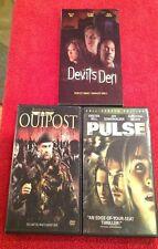 Lot Horror Thriller DVD Pulse Outpost Devils Den Strippers Stevenson Bell Zombie