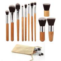de cosméticos Set de pinceles de maquillaje con bolsa Fundación Mango de bambu