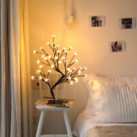 LED Cherry Blossom Tree Light Table Lamps Night light Bedroom Party Decoration