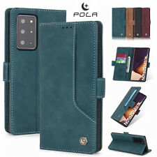 F Samsung Note 20 Ultra S20+ S10 Leather Wallet Case Card Slots Flip Stand Cover