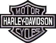 """Harley-Davidson Aufnäher BS Classic grau/ weiß/ schwarz 3""""x2,5"""""""
