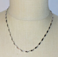 NAPIER Silver Tone Twisted Chain Necklace Vintage