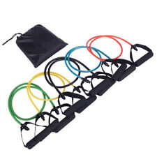 5 in 1 Natural Latex Fitness Resistance Bands Strength Training Set Colorful