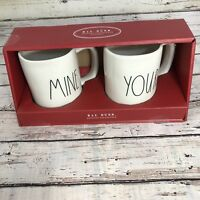 "New! Rae Dunn ""Yours"" and ""Mine"" Large Letter LL Mug Set"