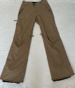 686 InfiDRY All Weather Tech 5K Tan Snowboard Ski Pants Mens Tan/Brown Sz Small