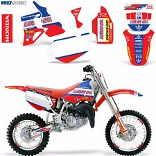 Graphic Kit Honda CR 80 MX Dirt Pit Bike Decals Sticker Wrap CR80 1996-2002 LO