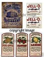 Primitive Kitchen Pantry Labels  - Reproduction        #506