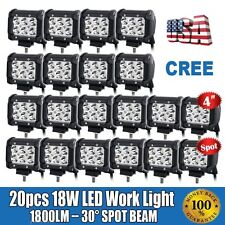 20X 4inch 18W CREE FLOOD LED LIGHT BAR WORK LAMP OFFROAD BOAT UTE CAR TRUCK EK