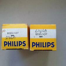 6146A  PAIR NEW OLD STOCK PHILIPS VALVES /TUBES
