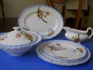 Royal Staffordshire Pottery  VINTAGE Dinner Service Dinner Set Serves 6