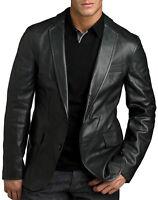 NooraNew Men's Genuine Lambskin Leather Blazer Jacket Slim Fit Leather Coat EL49