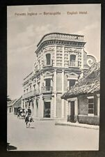 Mint Vintage English Hotel Barranquilla Columbia Real Picture Postcard