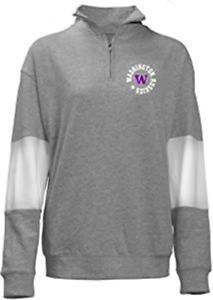 Washington Huskies NCAA Womens 1/4 Zip French Terry Sweatshirt, 3X ~ NWT's