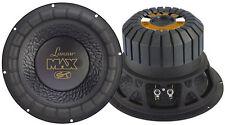 "Lanzar MAX12 4 ohmios 12"" 1000w Spl Sq coche Subwoofer Sub Woofer Bass Driver"