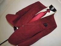 Nordstrom men's Vintage Maroon Ultra Suede 2 button jacket coat 38 R