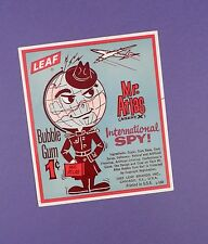 c1960's International Spy- Mr. Atlas Leaf Bubble Gum Advert Card