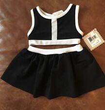 Amy Coe Baby Girl 2 Piece Set Black White Crop Top & Skirt Set 12 Months