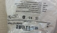 NEW Allen-Bradley 800E-2DL5RX02 Ser. A Red Full Voltage Module with Latch