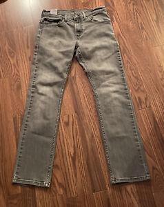 Levis 511 Sz16R 28x28 Gray Mid Rise Straight Leg Slim Fit Denim Jeans