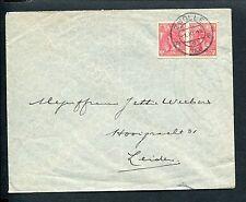 Bontkraag ongetand nvph 82, paartje, op envelop 1.XI.1925 ZWOLLE - LEIDEN