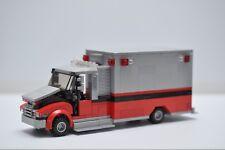 LEGO Ambulance EMT Medic Truck Red Gray Custom Speed Champions