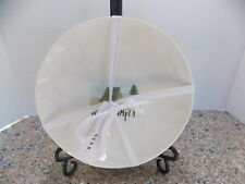 """RAE DUNN NEW 8"""" MELAMINE 4 CAMPER  PLATES """"HAPPY CAMPER GRILL SUMMER RELAX"""""""