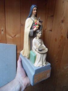 Tronc statue reliquary Sainte Ste THERESE Lisieux ange queteur church trunk