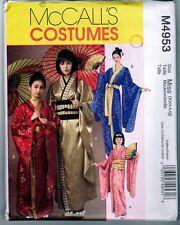 McCalls M4953 Japanese Costume Kimono Pattern Uncut / Vintage 2005 Xsm-Lrg