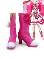 New Pretty Cure,Precure Usami Ichika/Cure Whip Cosplay Anime Boots Fashion Shoes