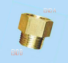"""1/4"""" Female NPT to 1/8 Male BSPP Coupling Brass Pipe Fitting Gauge adapter NP-8M"""