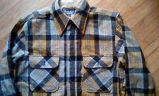 4bd5cea1 Vintage Hunter Hill All Wool Black Yellow Plaid Mens Shirt Jacket 43