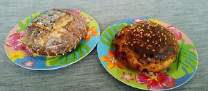 2 selbstgebackene süße Brote aus Hefe/Quarkteig ca.1,2 kg