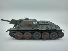 1/35 Scale Built WWII Soviet SU-122 SPG Howitzer 1943 Russian Tank Static Model