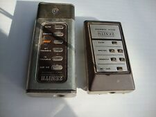 Pair of Vintage old Zenith Space Command tv remote control Early Television