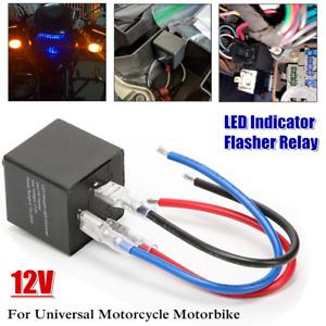 1×LED Adjustable Wired Motorcycle Flasher Relay Turn Signal Indicator Flash 12V