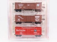N Scale Micro-Trains MTL Dans Club 40' Box Car 3-Pack C&S CM Burlington Denver