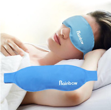 Gel Eye Mask Ice Pack, Hot Cold Reusable Sleeping Pad for Puffy Dry Cooling Eyes