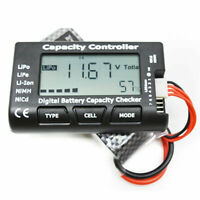 US 7 Battery Capacity Voltage Check Tester Cell Meter For NiMH LiPo LiFe Li-ion