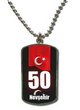Kette Dog Tag Anhänger Türkei Nevsehir 50 Türkiye Plaka
