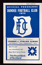 Dundee FC v Stirling Albion Football Programme February 13 1971