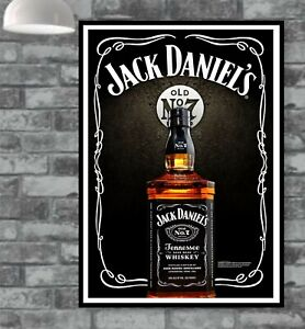 Jack Daniels Poster Picture Vintage Old Wall Man Cave Bar  (TP332)