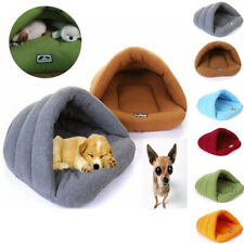 Soft Pet Cave House Bed Sofa Indoor Nest Bed Sided Plush Dog Cat Sleeping Warm